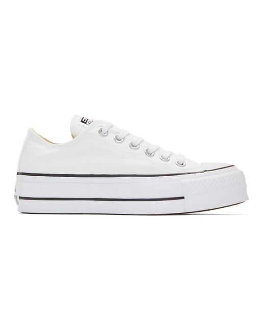 Converse - White And Black Chuck Taylor All Star Lift Sneakers for Men - Lyst