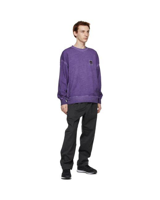メンズ Saturdays NYC パープル Ari Peace スウェットシャツ Purple