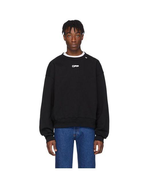 メンズ Off-White c/o Virgil Abloh ブラック Wavy Line ロゴ スウェットシャツ Black