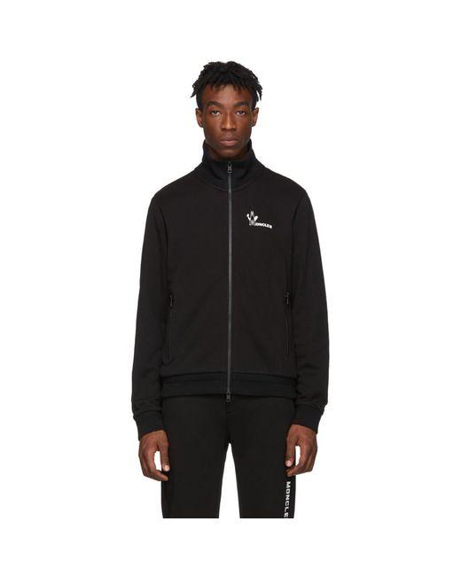 メンズ Moncler ブラック Maglia ジップアップ セーター Black