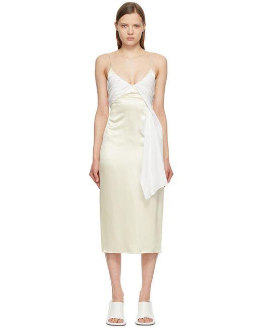 1017 ALYX 9SM ベージュ & ホワイト Foulard ドレス White