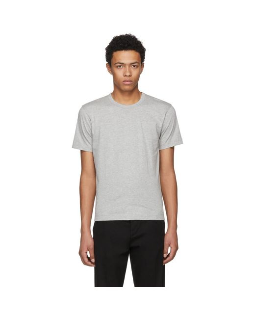 Comme des Garçons - Gray Grey Basic T-shirt for Men - Lyst