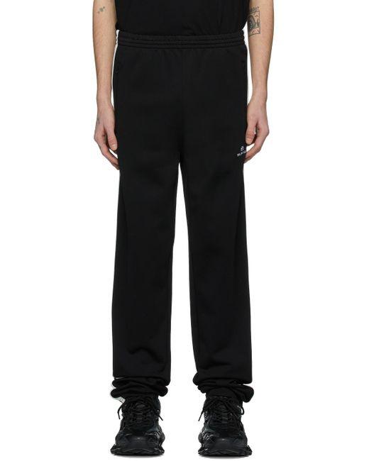 メンズ Balenciaga ブラック & ホワイト Bb ラウンジ パンツ Black