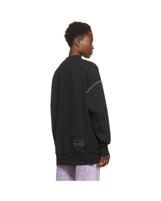 we11done ブラック Reflective ロゴ スウェットシャツ Black