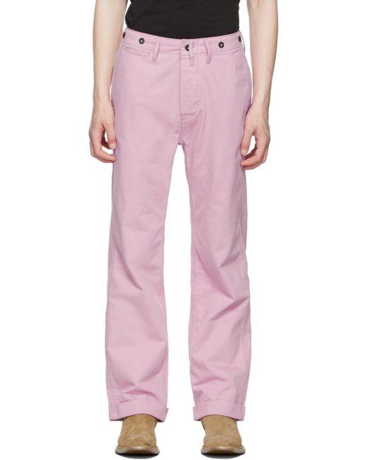 メンズ Levi's ピンク '20s チノ トラウザーズ Pink