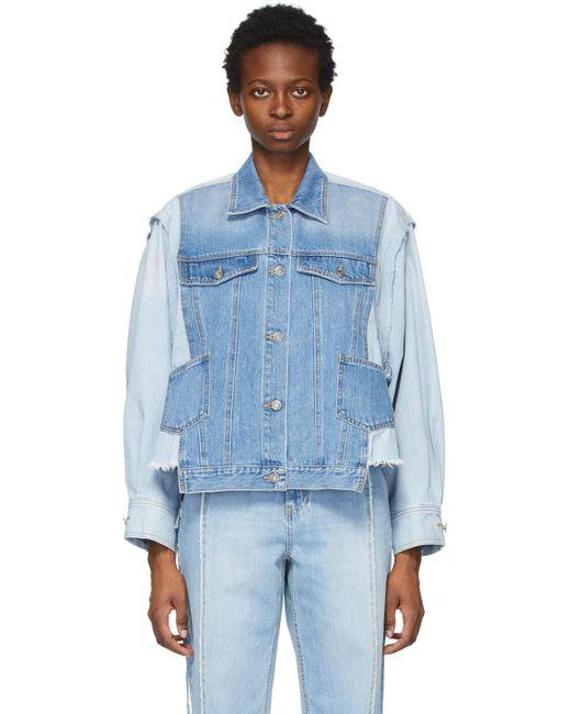 SJYP ブルー デニム シャツ ジャケット Blue