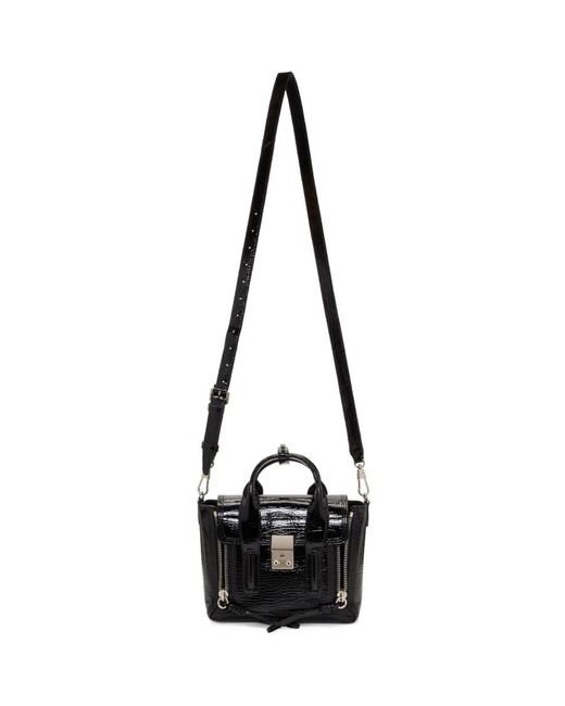 3.1 Phillip Lim - Black Patent Mini Pashli Satchel - Lyst