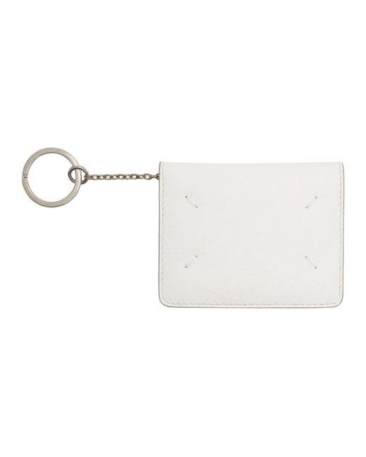 Maison Margiela White Bifold Card Holder