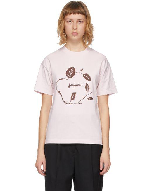 T-shirt rose 'Le T-Shirt Jean' Jacquemus en coloris Pink