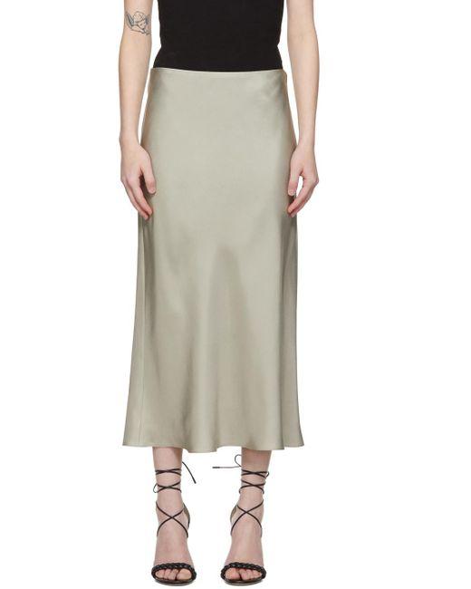 Totême  カーキ Silk Slip スカート Natural