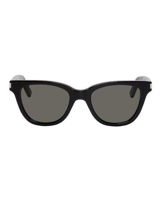 メンズ Saint Laurent ブラック スモール Sl 51 サングラス Black