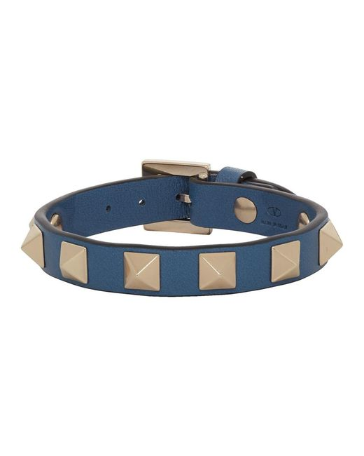 Valentino Blue Navy Garavani Rockstud Bracelet