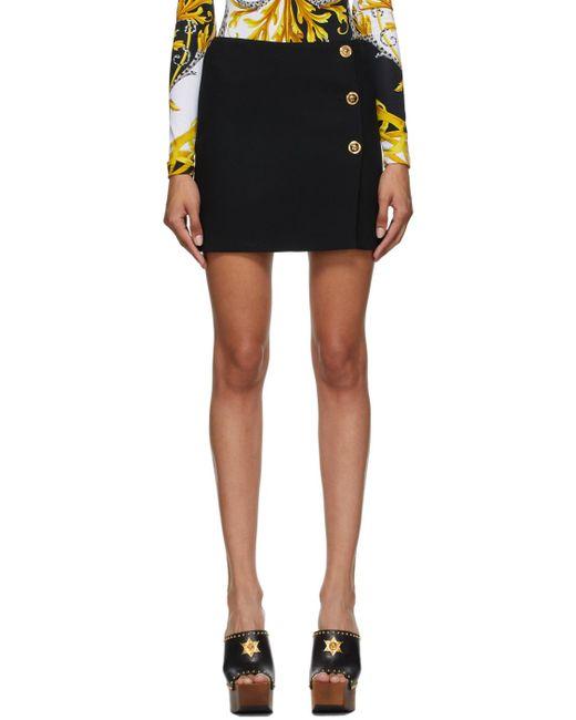 Versace ブラック ボタン スカート Black