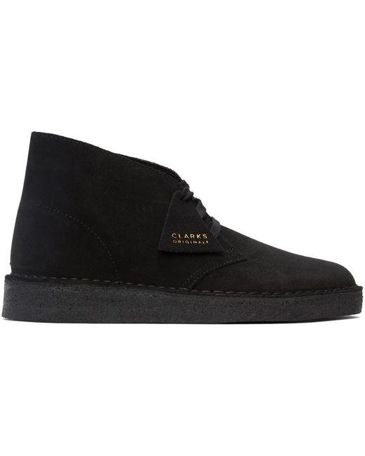 メンズ Clarks ブラック スエード Coal デザート ブーツ Black