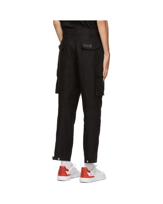 メンズ Givenchy ブラック カーゴ パンツ Black