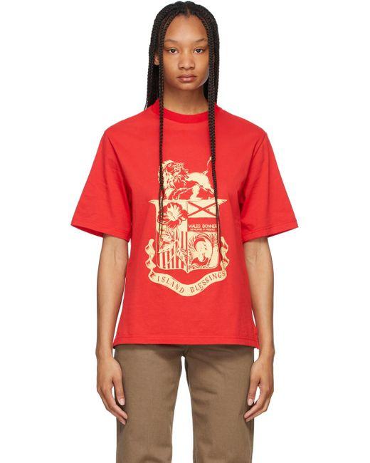 Wales Bonner レッド Johnson Crest T シャツ Red