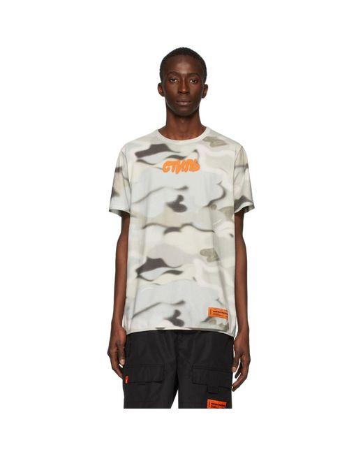 メンズ Heron Preston マルチカラー カモフラージュ Style T シャツ Multicolor