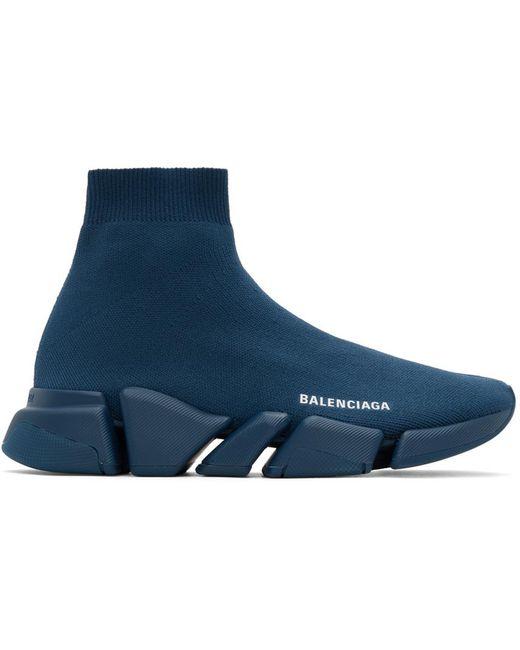 メンズ Balenciaga ネイビー Speed Lt 2.0 スニーカー Blue