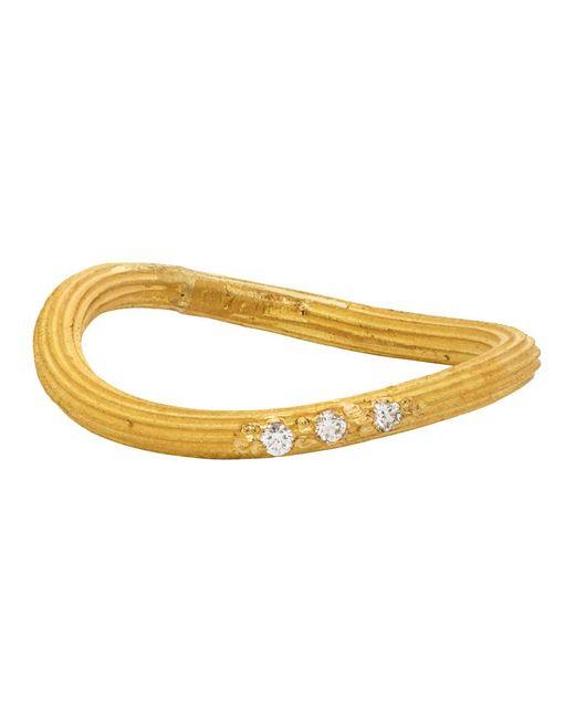 Elhanati ゴールド Petite String リング Metallic