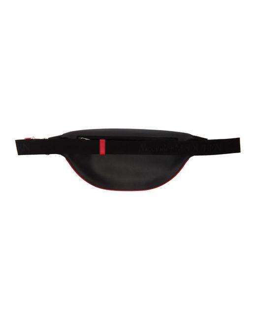 メンズ Alexander McQueen ブラック ハーネス ベルト バッグ Black
