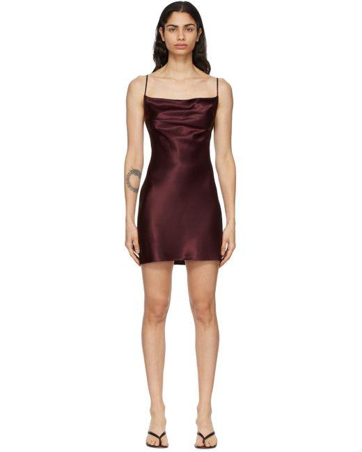 Fleur du Mal Ssense 限定 バーガンディ スリップ ドレス Purple