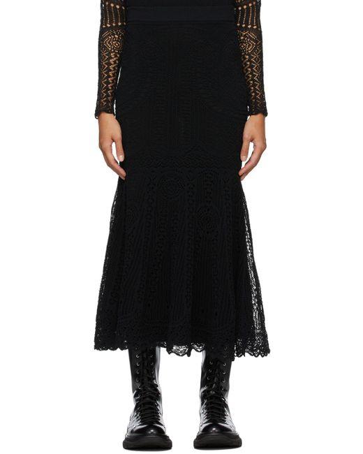 Alexander McQueen ブラック Patchwork スカート Black