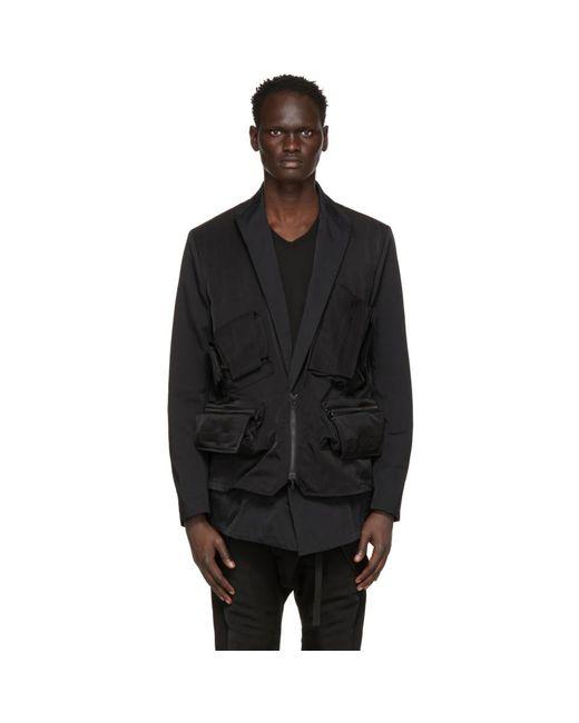 メンズ Julius ブラック Cargo Vest ブレザー Black
