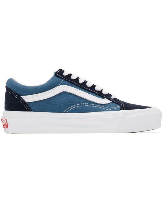 Baskets bleues et bleu marine OG Old Skool LX Toile Vans en ...