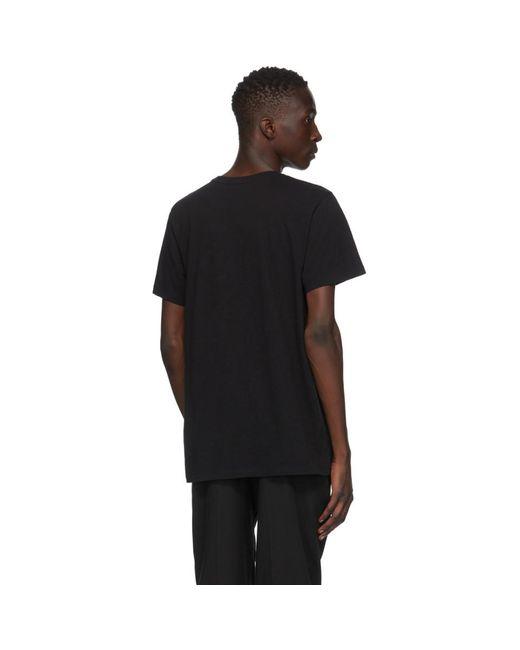 メンズ Isabel Marant ブラック Zafferh T シャツ Black