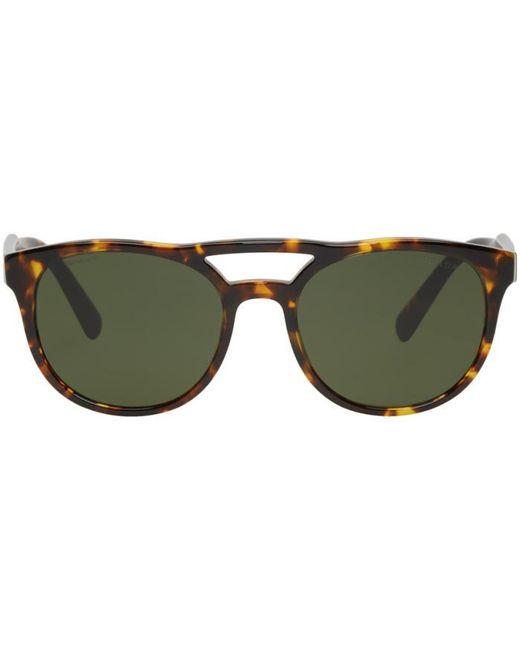Prada | Multicolor Tortoiseshell Double Bridge Sunglasses for Men | Lyst