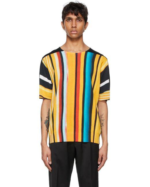 メンズ Dries Van Noten Len Lye エディション マルチカラー Neon Print T シャツ Multicolor