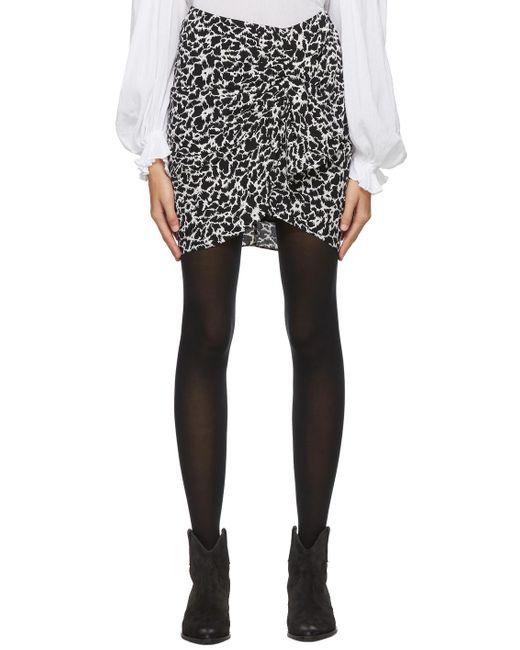 Étoile Isabel Marant ブラック & グレー Sky ミニスカート Gray