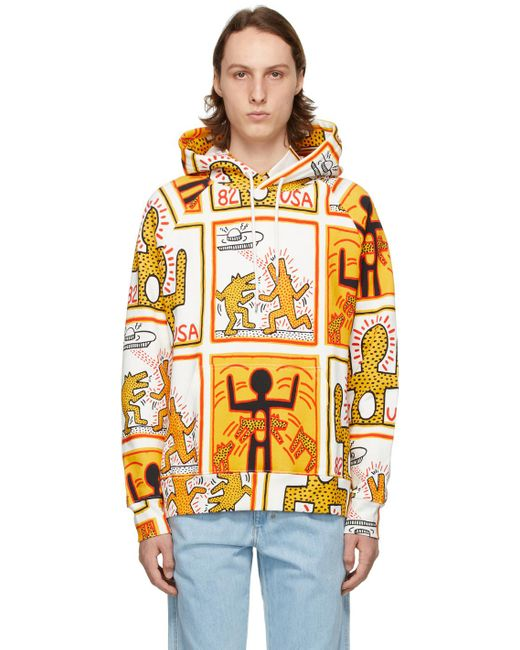 メンズ Etudes Studio Keith Haring Foundation エディション ホワイト Racing フーディ Multicolor