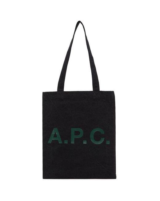 A.P.C. ブラック Lou トート Black