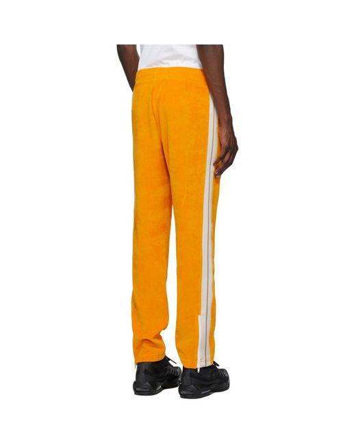 メンズ Palm Angels オレンジ シェニール トラック パンツ Orange
