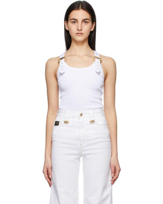Versace Jeans ホワイト タンク トップ White