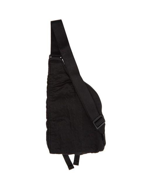 メンズ C P Company ブラック ナイロン メッセンジャー バッグ Black