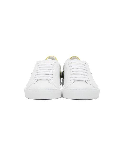 メンズ Givenchy ホワイト And イエロー リバース ロゴ Urban Street スニーカー White