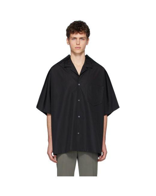 メンズ Maison Margiela ブラック オーバーサイズ ポプリン シャツ Black
