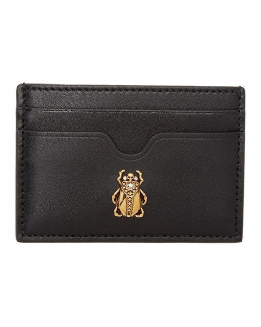 Alexander McQueen ブラック Insect カード ホルダー Black
