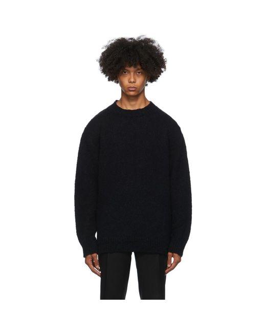 メンズ Dries Van Noten ブラック フィッシャーマン セーター Black