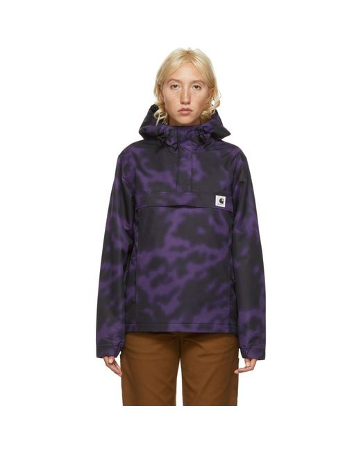 Carhartt WIP パープル Nimbus プルオーバー ジャケット Purple