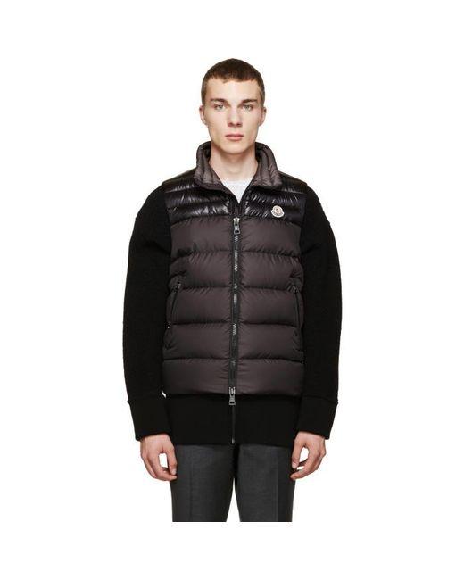 Moncler | Brown Black Down Dubres Vest for Men | Lyst