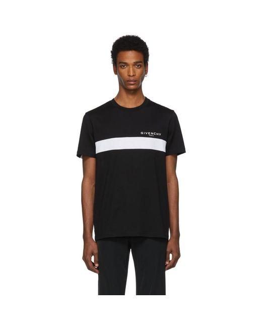 メンズ Givenchy ブラック カットアウト T シャツ Black