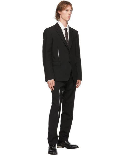 メンズ Alexander McQueen ブラック & シルバー シルク スター スカル ネクタイ Black