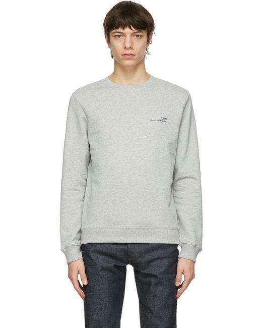 メンズ A.P.C. グレー Item スウェットシャツ Gray