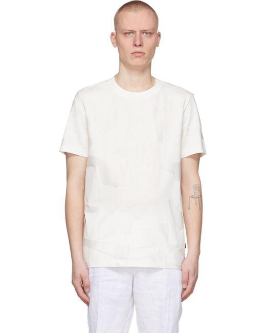 メンズ BOSS by Hugo Boss ホワイト 迷彩 Tiburt T シャツ White