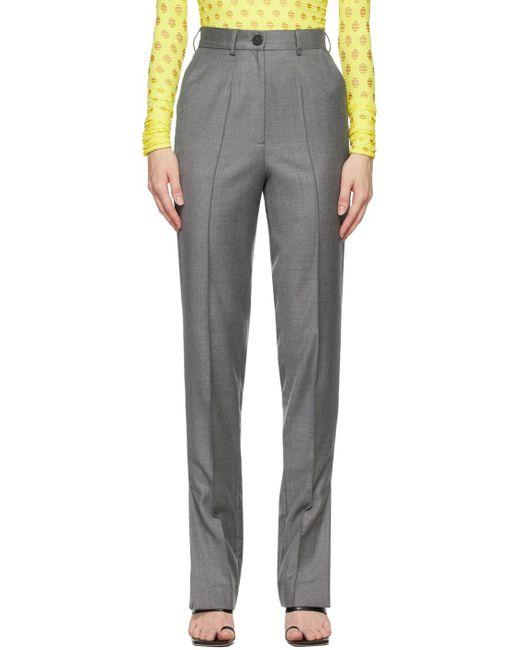 Materiel Tbilisi Gray Side Slit Trousers