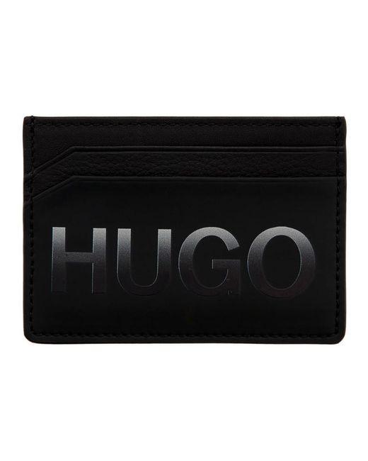 メンズ HUGO ブラック グラディエント ロゴ カード ホルダー Black