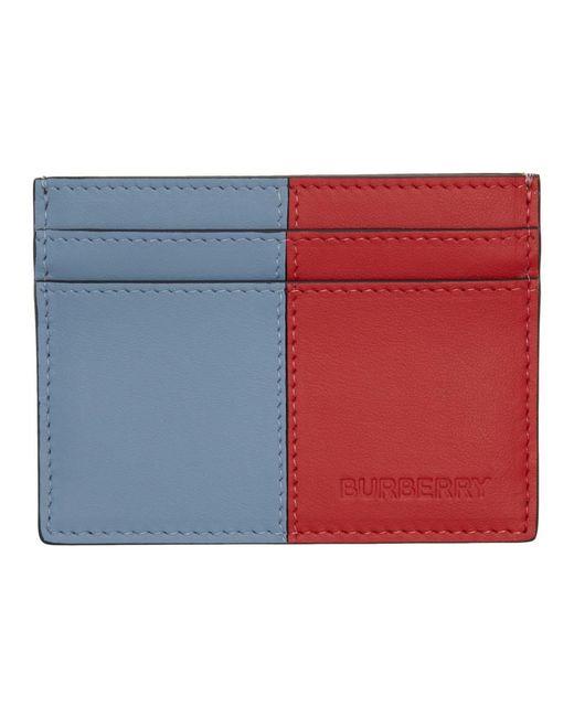 メンズ Burberry マルチカラー Sandon カード ホルダー Blue